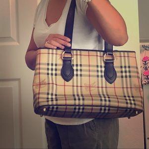 Burberry Haymarket shoulder bag